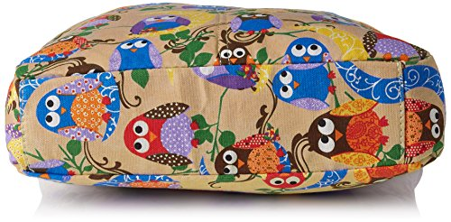 Swanky Swans - Keely Owl Messenger, Borse a tracolla Donna Marrone (Brown)