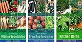 Portal Cool 3 Packungen Seed Sammlungen; Growbag Lieblings, Winter Veg & Küchenkräuter