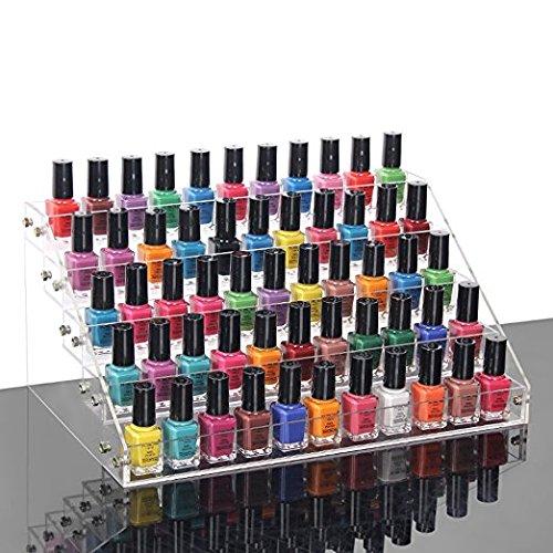 Minespace 24 bouteilles Acrylique Vernis à ongles Organiseur de 3 étages huiles essentielles étagères de rangement pour PC de bureau Affichage clair support
