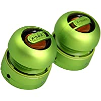 XMI X-Mini Max Duo Portable Mini Speakers with 3.5mm Jack Compatible with iPhone/iPad/iPod/Smartphones/Tablets/MP3 Player/Laptop - Green