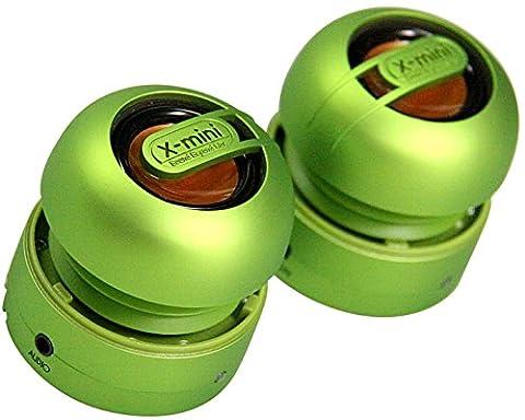 X-mini Max Duo Tragbare, Wiederaufladbare Stereo-Kapsellautsprecher für iPhone, Smartphones & MP3-Player grün