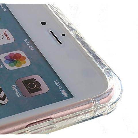 3Q Funda iPhone 6 Plus Funda iPhone 6S Plus con Colchón de aire 4 esquinas. Novedad Mayo 2016. Diseño Suizo. Carcasa iPhone 6S Plus Transparente Claro con Absorción de Impactos y