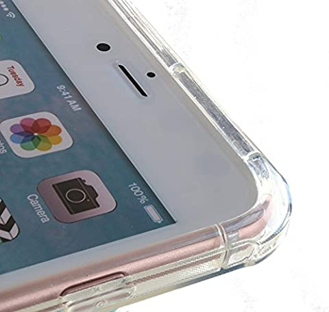 3Q Coque Apple iPhone 6 Plus Coque iPhone 6S Plus Housse Silicone Transparent Clair avec protection anti-chocs Air Cushion aux angles Nouveau Mai 2016 Design Suisse tui iPhone 6 Plus 6S Plus