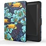 "MoKo Funda para Kindle 8th Generación - Funda de SmartShell Más Delgada y Ligera con Auto Sueño / Estela para Amazon All-New Kindle E-reader (6"" Display, 8th Generacón 2016), Pájaro de Toucan (No es compatible con el kinlde paperwhite)"