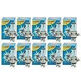 ECD Germany 10er Pack Halogen Lampe H4 55W 4000K 12V mit E4 Zulassung Glühbirne Birne Glühlampe Scheinwerferlampe Autolampe