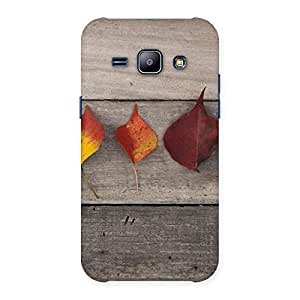NEO WORLD Remarkable Leaves on Wood Back Case Cover for Galaxy J1