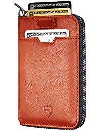 Vaultskin Notting Hill Slim Zip Wallet with RFID Protection for Cards Cash Coins