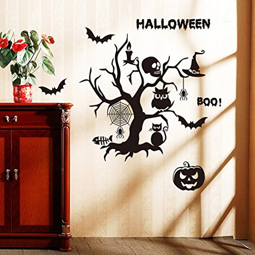 DOLDOA Happy Halloween Removable Neu Home Haushalt Zimmer Wandaufkleber Mural Decor Decal