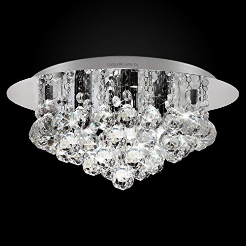... Modern Elegant Round Chandelier Ceiling Light Crystal Droplets Simply Stunning Effect from Long Life L& Company ... & Modern Elegant Round Chandelier Ceiling Light Crystal Droplets ...