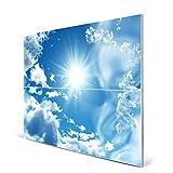 banjado - Magnettafel Pinnwand 75cm x 59cm Magnete Memoboard mit Motiv Clouds