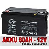 80Ah Akku AGM GEL Batterie Wohnmobil Solarbatterie Versorgungsbatterie Bootsbatterie 90Ah, Extrem Zyklenfest