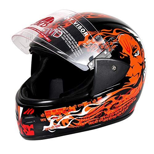 JMD HELMETS Elegant Decor PAWAN Full Face Helmet (GLOSSY_L)