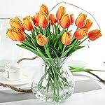 Justoyou - Mazzo di tulipani in lattice, effetto realistico, stelo singolo, 33cm, fiori artificiali per bouquet di nozze, arredo casa, hotel, giardino, decorazione natalizia o regalo