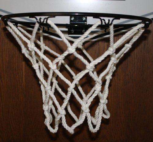 Preisvergleich Produktbild Basketballkorb Basketball Korb NETZ Ersatznetz Ballnetz 5mm, Baumwolle 8 Loch