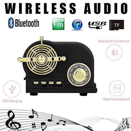 Hunpta@ Bluetooth-Lautsprecher, Tragbarer Mini drahtloser Lautsprecher-Player-Musik-Soundspalte,Wireless Bluetooth 4.1 Speaker Portable Subwoofer (Schwarz) Schwarz Portable Speaker