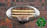 Firefly 2kW Wall Mounted Infared Quartz Bulb Electric Outdoor Patio Heater with 3 Power Settings