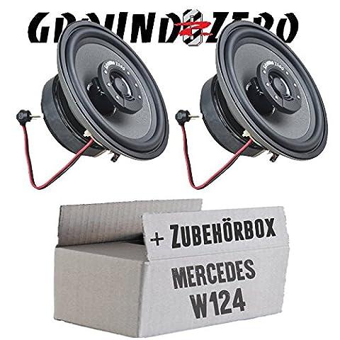 Mercedes W124 Front - Ground Zero GZTF 12TX - 12cm , 2-Wege Lautsprecher - Einbauset
