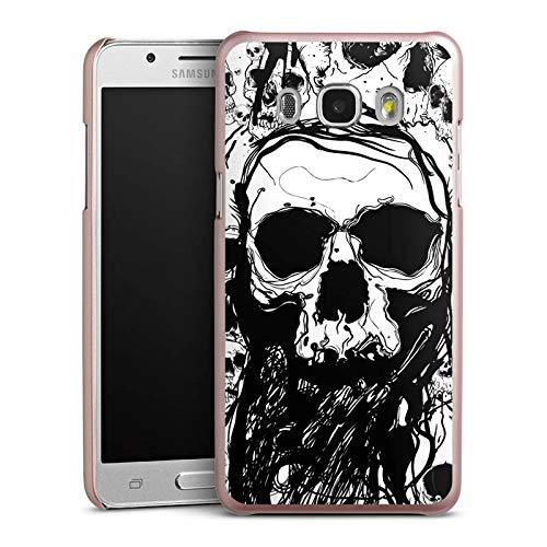 mpatibel mit Samsung Galaxy J5 Duos (2016) Handyhülle Case Totenkopf Skull Halloween ()