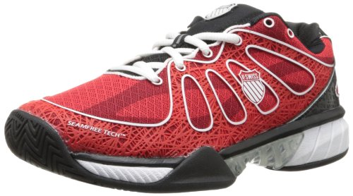 K-Swiss - Scarpe sportive - tennis Ultra Express, Uomo, Fiery Red/Black/White, 41