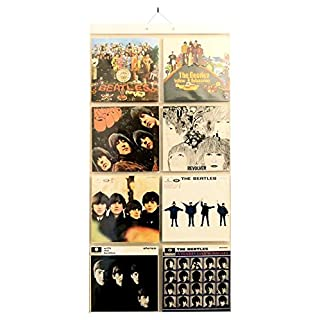 Picture Pockets for LP records, Hanging Wall frame for 12x12 Inch vinyl covers, Holds 16 (8 each side)