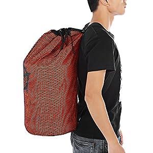 Zhuhaimei,Strandrucksack-Tasche für Schwimmreisen mit Mesh(color:ORANGE)