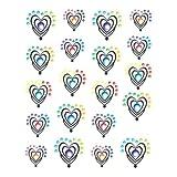 1 Bogen One Stroke Sticker BLE1021 bunte Herzen Nailsticker Nailart Nail-Tattoo