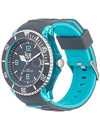 Ice-Watch - ICE sporty Grey Scuba blue - Graue Herrenuhr mit Silikonarmband - 001334 (Extra Large)