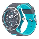 Ice-Watch - ICE sporty Grey Scuba blue - Graue Herrenuhr mit Silikonarmband - 001334 (Extra Large)