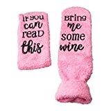 nuosen Funny Socks for Women If You Can Read This Bring Me Wine Wine Socks with Cupcake Gift Packaging