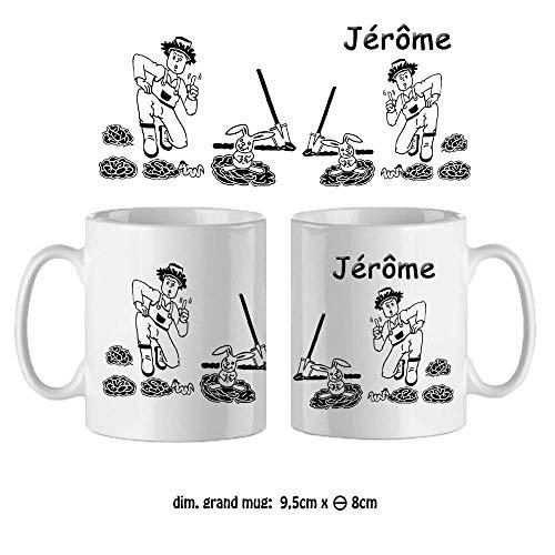 Mug Jardinier-personnalisé avec un prénom-(exemple Jérôme)
