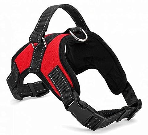Dog Harness, UCMDA No Pull Dog Vest Harness, Adjustable Pet Vest Comfort Control for Large Dogs in Training Walking(L - Chest 24.8-33.07