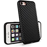 iPhone 7 Hülle OKCS® Schutzhülle Carbon Back Cover Hard Case Bumper - in Schwarz