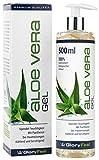 Aloe Vera Gel 500ml - 100% Biologisch Kontrollierter Anbau - Der VERGLEICHSSIEGER 2018* - Feuchtigkeitspflege für die Haut - After-Sun