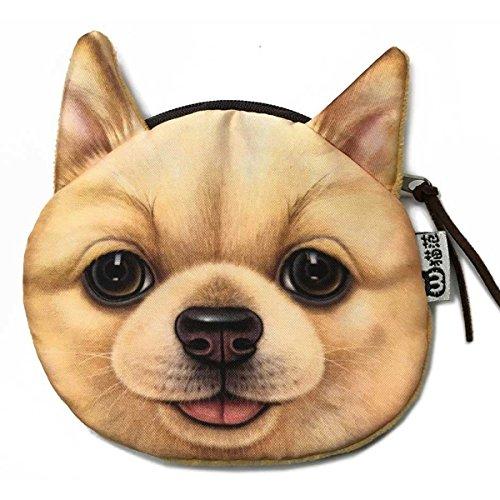 ai-life 3d realista Adorable perro cara con cremallera para monedas dinero Peluche...