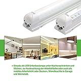 OUBO 60cm LED Leuchtstoffröhre komplett Set mit Fassung kaltweiss 6500K 10W 850lm Lichtleiste Unterbauleuchte Küchenlampe Schrankleuchte Deckenleuchte led strip Test