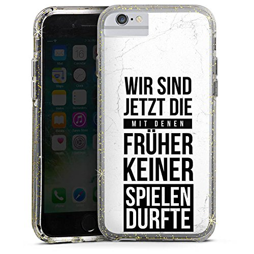 DeinDesign Apple iPhone 6s Plus Bumper Hülle Bumper Case Glitzer Hülle Humor Fun Sayings