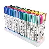 Penna GC 100-Brush Pen Doppio Colore con Punta Sottile 0.4…