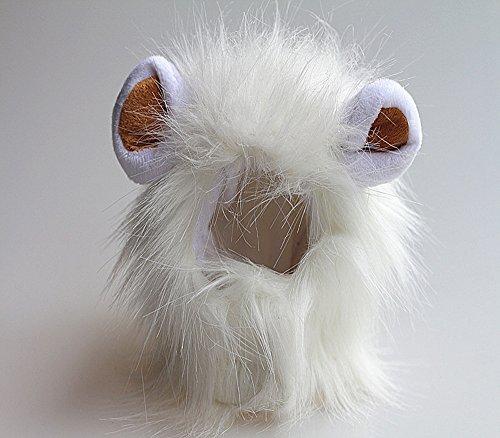 Dealglad®, finta criniera da leone per cane, gatto, animale domestico, con orecchie, peli, parrucca decorativa con cappuccio per la testa, per autunno, inverno
