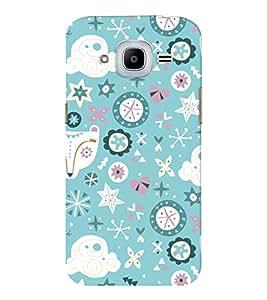 EPICCASE sky blue Mobile Back Case Cover For Samsung J2 2016 (Designer Case)