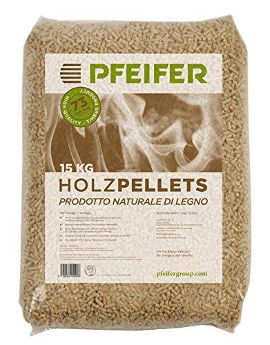 Pellet prodotto con il 100% di segatura di legno. composto da legno di abete.