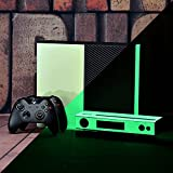 eXtremeRate Custom Design Glow in the Dark Protective Skin Decals for Xbox One Console & Kinect, Customized Protector Skins Stickers