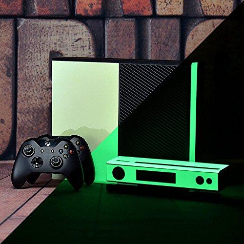 eXtremeRate® Custom Design Resplandor en la Oscuridad Pegatinas de Piel Protectora para Consola Xbox One y Kinect, Pegatinas Personalizadas Protector de Pieles