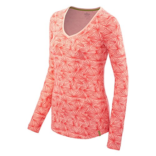 Kathmandu Damen T-Shirt Long Sleeve poppy