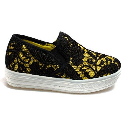 Colors of california Laceup6k-Bis Filles, Toile, Sneaker Slip on