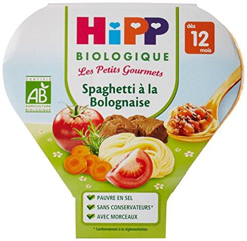 Hipp Biologique Les Petits Gourmets Spaghetti à la Bolognaise dès 12 mois - 6 assiettes de 230 g