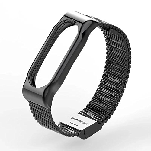 VAN+ High Quality Fashion All Metal Strap & Protective Shell for Xiaomi Mi Band 2 bands Smart Bracelet Accessories(No Tracker)