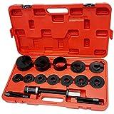 Todeco - Kit Di Strumenti Per Cuscinetti, 18 Pezzi Per La Riparazione Dei Cuscinetti - Materiale: Acciaio C45 - Dimensioni contenitore: 52 x 30 x 9 cm - con custodia rossa, 17 Parti