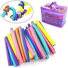 42 Pcs Rulo Flexible Palillos Suave del Pelo Rulos para el pelo Rizador Bigudíes DIY Círculo espiral, 7 Sizes,Colorful