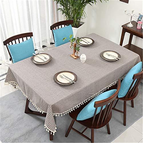 XYAZ Mode Haushalt Tischdecke, schmutzige Tischdecke, Baumwolle und Leinen gestreifte Tischdecke, einfache Restaurant TischdeckeWeiße vertikale Streifen (Gestreifte Marine Runde Tischdecke)