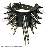 Search : WB427 Handmade Black Gothic Punk Heavy Stud Design Leather Wristband Studded Made In UK